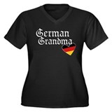 german grandma Women's Plus Size V-Neck Dark T-Shi