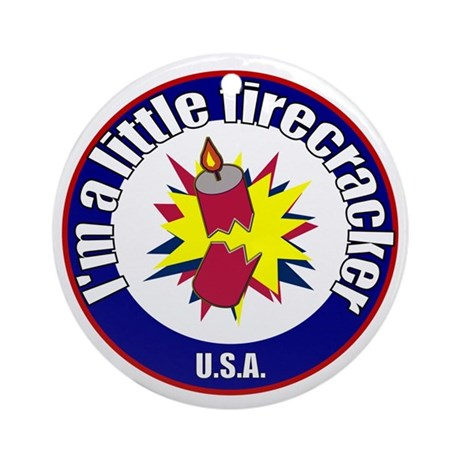 Little Firecracker Ornament (Round)