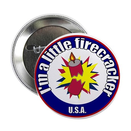 "Little Firecracker 2.25"" Button (10 pack)"