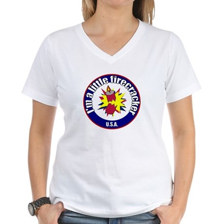 Little Firecracker Women's V-Neck T-Shirt