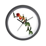 Louisiana Chilis Wall Clock