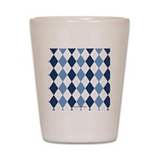 UNC Argyle Carolina Blue Tarheel Shot Glass