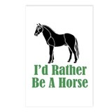 Rather Be A Horse Postcards (Package of 8)