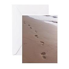Footprints Greeting Cards (Pk of 10)