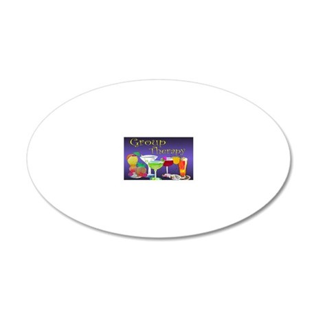 Group Therapy 20x12 Oval Wall Decal