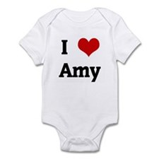I Love Amy Infant Bodysuit