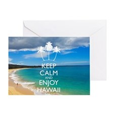 Keep Calm and Enjoy Hawaii (Shoulder Greeting Card
