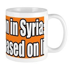 War on Syria Lies Bumper Sticker Mug