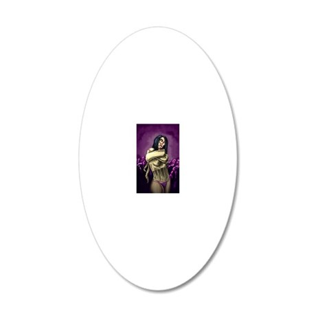 Zombie Queen 20x12 Oval Wall Decal