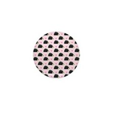 Cute Happy Hedgehog Pattern Pink Mini Button