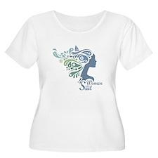 Woman Who Sail Logo Plus Size T-Shirt