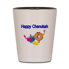 Happy Chanukah Shot Glass