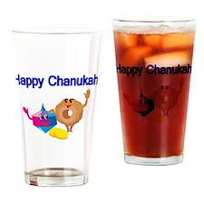 Happy Chanukah Drinking Glass