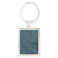 Dark Denim Art Portrait Keychain