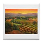 Napa Vineyards Tile Coaster