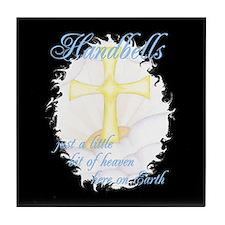 Little Bit of Heaven Black Tile Coaster