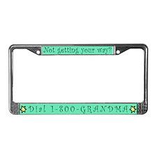 1-800-GRANDMA License Plate Frame