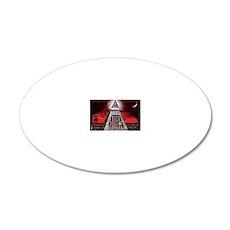 illuminati new world order 9 20x12 Oval Wall Decal