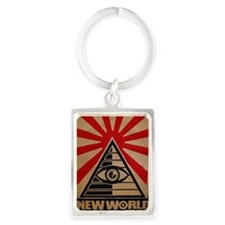 illuminati new world order 911 Portrait Keychain