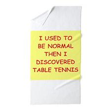 table tennis Beach Towel