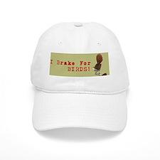 I Brake For Birds Sticker Baseball Cap