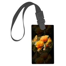 Orange Butterfly Towel Luggage Tag