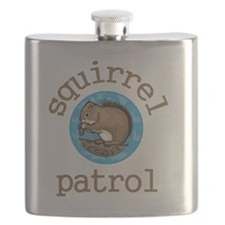 Squirrel Patrol Flask