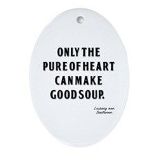 Good Soup Oval Ornament
