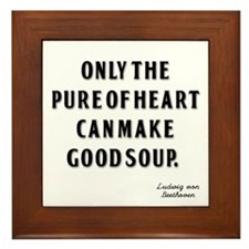 Good Soup Framed Tile