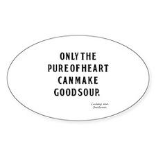 Good Soup Oval Sticker