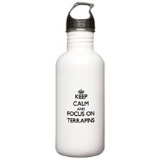 Keep calm and focus on Terrapins Water Bottle