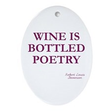 Wine Poetry Oval Ornament