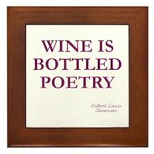 Wine Poetry Framed Tile