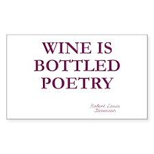 Wine Poetry Rectangle Sticker