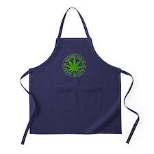 weed cannabis 420 t-shirt Apron (dark)