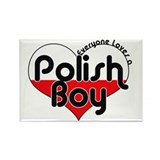 Everyone Loves a Polish Boy Rectangle Magnet (10 p