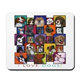 I Love Dogs! Mousepad