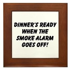 Dinner's Ready Framed Tile