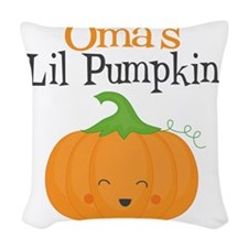 Omas Little Pumpkin Woven Throw Pillow