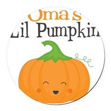 Omas Little Pumpkin Round Car Magnet