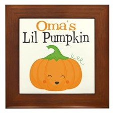 Omas Little Pumpkin Framed Tile
