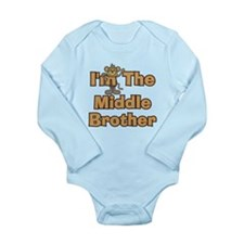 Middle Brother Monkey Long Sleeve Infant Bodysuit