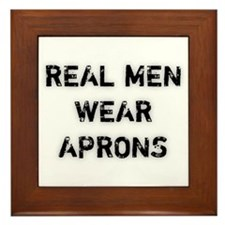 Real Men Wear Aprons Framed Tile