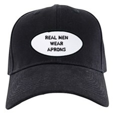 Real Men Wear Aprons Black Cap