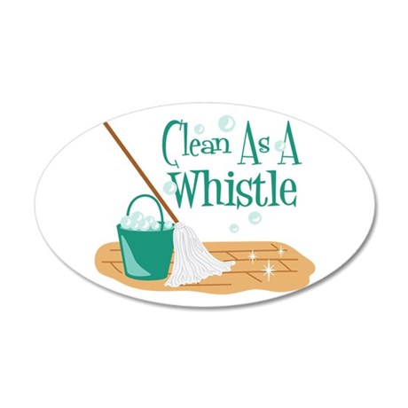 Clean As A Whistle Wall Decal