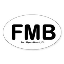 Ft Myers Beach Oval Decal