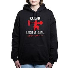 CLEAN LIKE A GIRL - BLACK Hooded Sweatshirt