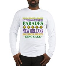 Mardis Gras Fun Long Sleeve T-Shirt