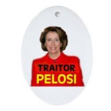 TRAITOR PELOSI Oval Ornament
