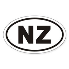 NZ Euro Oval Decal